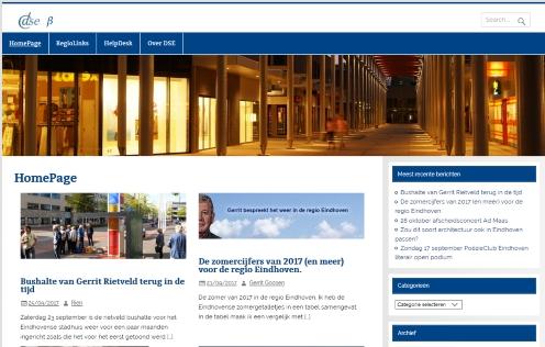 Nieuwe homepage