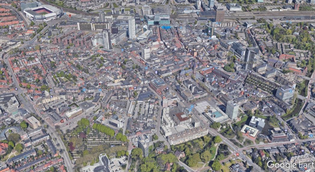 Google earth Eindhoven centrum